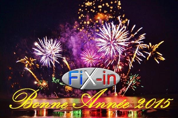 Fix In vous souhaite une bonne année 2015 !