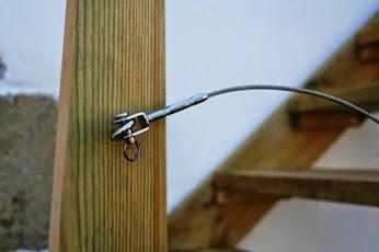 Accroche de chape sur vis inox bois avec anneau